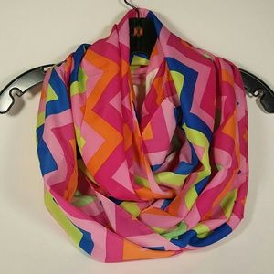 Colorful Fall Chevron Infinity Scarf