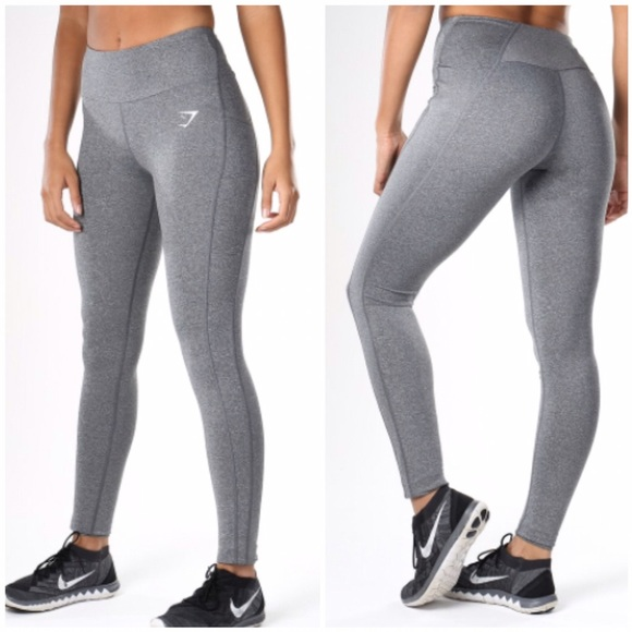 5dc0e7e940fc0 gymshark Pants | Gym Shark Dry Sculpture Leggings Charcoal Marl S ...