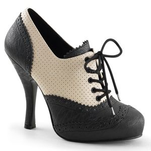 Shoes - Saddle Lace-Up Pin Up Shoes Swing Dance 1950s