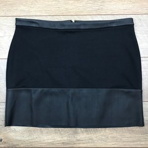 NWOT Express Mini Skirt with Faux Leather Trim