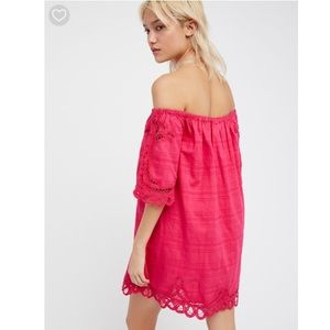 76e433ffd391aa Free People Dresses - Free People Battenburg Off-The-Shoulder Mini Dress