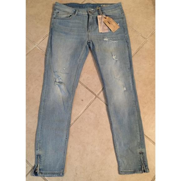 a50267fb7bb Zara Jeans | Nwt Light Wash Distressed Ripped Holes | Poshmark