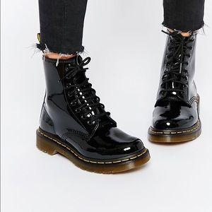 Dr. Martens black patent leather boots