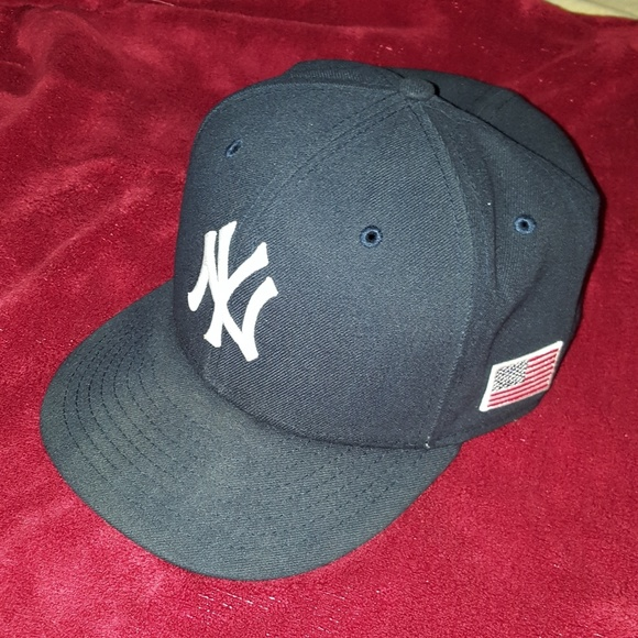 f5fb8de09e1 New York Yankees 9 11 Flag Fitted Hat. M 596daa602fd0b73937009493. Other  Accessories ...
