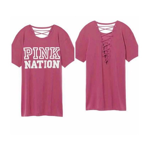 17 off pink victoria 39 s secret tops nwt vs pink mauve for Do true religion shirts run small or big