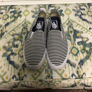 Vans striped slip on sneakers