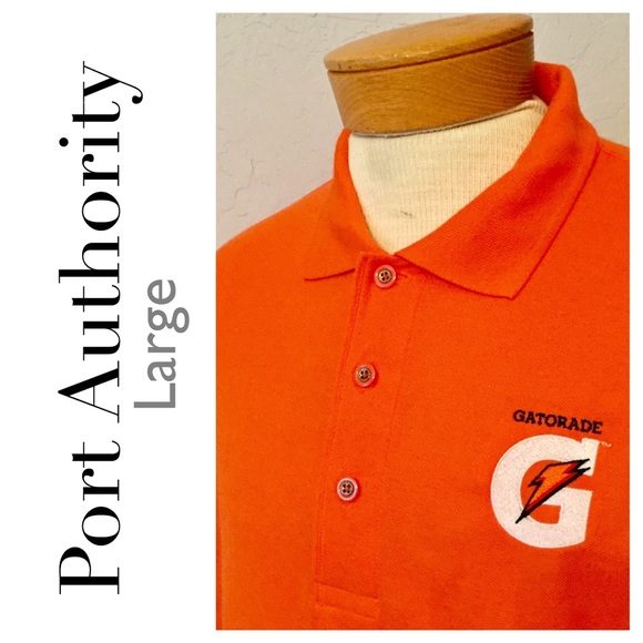 Gatorade corporate swag men s large orange polo. M 5974a89c981829eba501f0f8 e2949df950a89