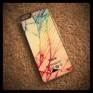 Accessories - Rainbow Cracked iPhone 6+ Case