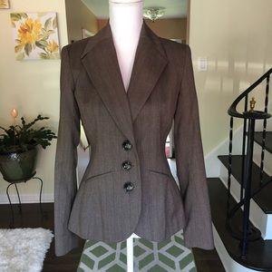 Merona brown pin stripe blazer size 2.