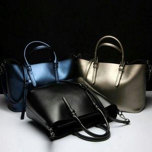 Handbags - GENUINE LEATHER JEWEL TONE TOTES