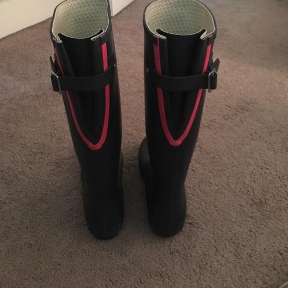 Navy hunter rain boots