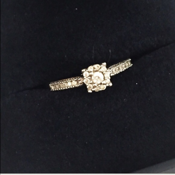 78 off Jared Jewelry 34 real Diamond Engagement Ring 10K gold