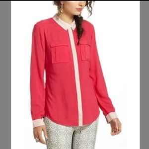 Red Maeve Button Down Shirt