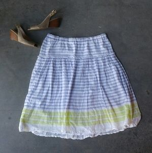 Old Navy Striped Midi Skirt