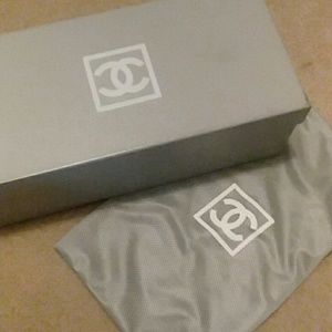 Chanel shoe box and cloth bag