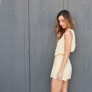 pale yellow romper