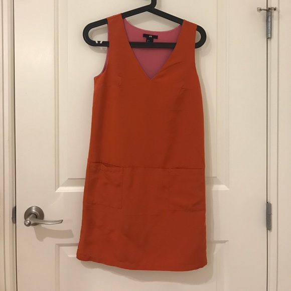 H&M Dresses & Skirts - HM orange sheath dress with pockets