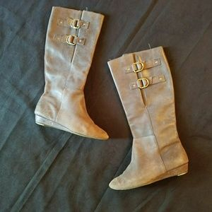 Shoes - Seychelles brown leather knee high boots sz 6