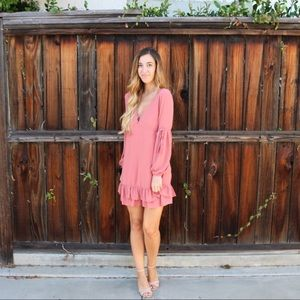 Dresses & Skirts - pink ruffle dress