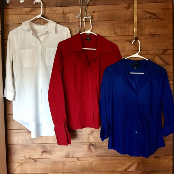 83 off talbots tops 3 non iron wrinkle resistant for Non wrinkle dress shirts