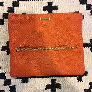 Gigi New York snake embossed crossbody clutch bag