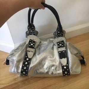 Swarovski Rhinestone Charm and Luck Handbag