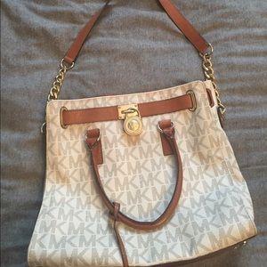 Authentic Hamilton logo lock and key large purse