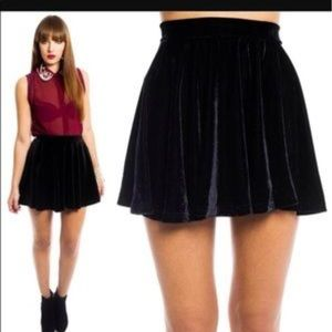 BLACK Velvet Rolla Coster skirt!