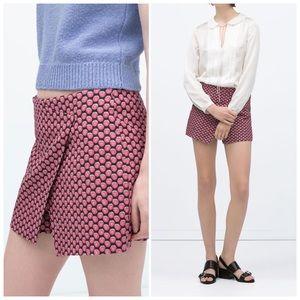 Zara Basic Fruit Print Shorts