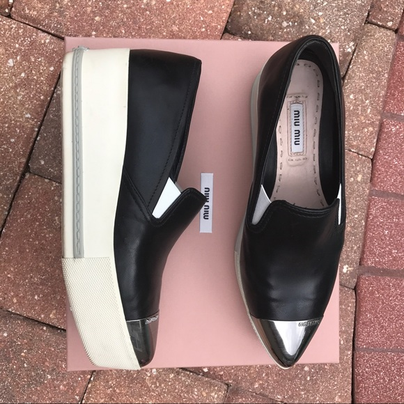 visa payment sale online Miu Miu Leather Cap-Toe Oxfords clearance brand new unisex cheap sale free shipping qmM1Umr3b