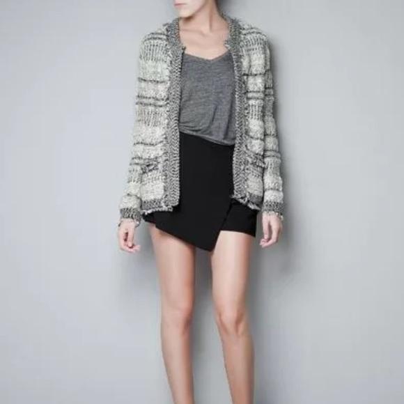 beda9ff0 Zara Sweaters | Jacquard Fringed Cardigan Sweater Jacket | Poshmark