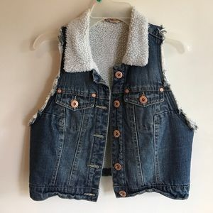 Jackets & Blazers - Denim and Fur Style Star Vest