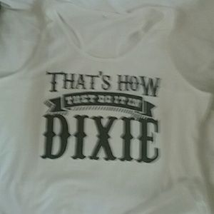 """Tops - racerback tank """"That's how they do it in Dixie """""""