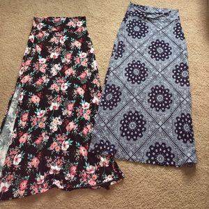 Maxi skirts- LOT OF 2!