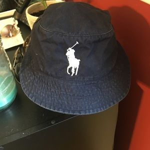 Other - Navy blue polo bucket hat