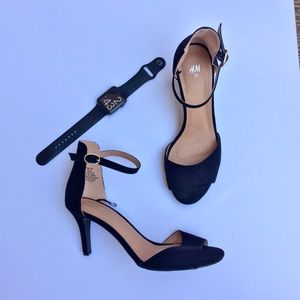 H&M Black Ankle Strap Heels