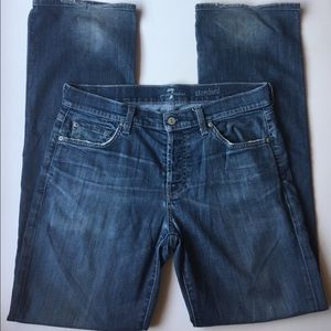 7 For All Mankind button fly straight  jeans