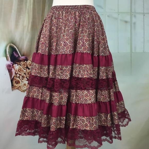 Malco Modes Dresses & Skirts - Malco Modes Burgundy Skirt