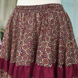 Malco Modes Skirts - Malco Modes Burgundy Skirt