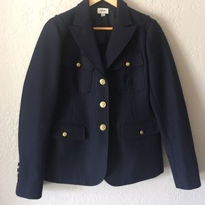 Fossil navy wool military jacket