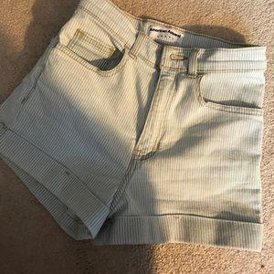 Brand new pin stripe American Apparel shorts