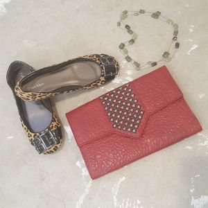 Street Level Urban Outfitters Red Envelope Clutch
