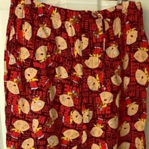 Men's Family Guy Stewie Pajama Pants drawstring PJ