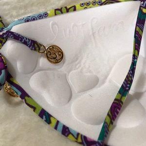 Luli Fama Swim - Luli Fama Purple Print Padded Bikini Top