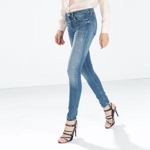 Zara lowrise skinny fit jeans