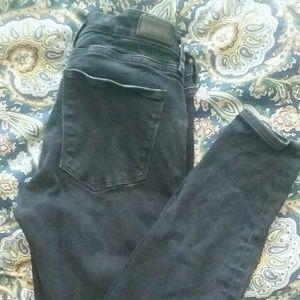 Zara Black Skinny Jeans Size 26