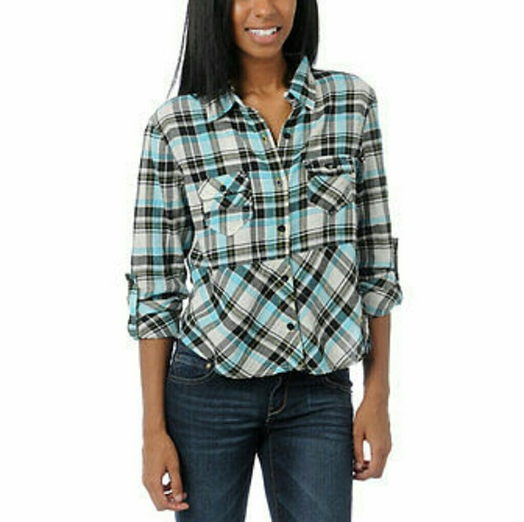 38 off fox tops nwt fox racing plaid button up flannel for Button up flannel shirts