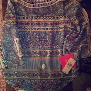 NWT Amy BYER Multi Print Blouse Girls Small 7/8