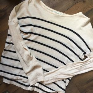 F21 Black and White Striped Shirt