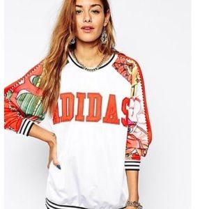 Rita Ora Adidas Originals dragon sweatshirt